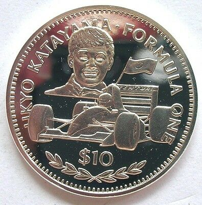 Liberia 1992 Katayama 10 Dollars 1oz Silver Coin,Proof