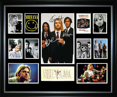 Nirvana Signed Framed Memorabilia