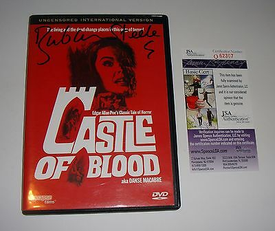 Barbara Steele Signed Castle of Blood DVD Uncensored JSA CERT EXACT PROOF