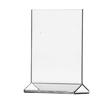 "12 Pack Acrylic 8 1/2"" x 11"" Upright Sign Holders Top Load Table Tent"