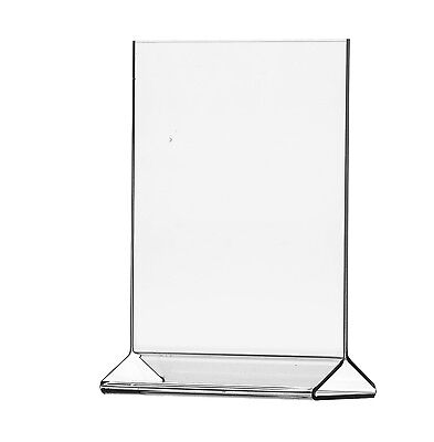 "8.5""W x 11""H Top Loading, Double-sided Table Sign Holder (Lot of 12)"