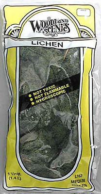 NEW Woodland Scenics Lichen Medium Green 1.5 Quarts L163