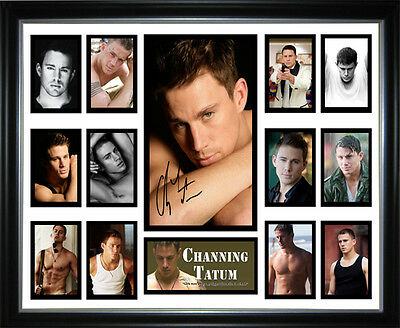 Channing Tatum Signed Framed Memorabilia