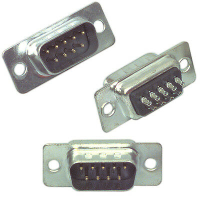 9-pin Male D-Sub Chassis Connector Solder Plug - RS232 - Computer PC Serial