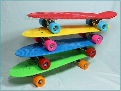 "70's Style Skateboard Skate Board Complete Cruiser Big Retro Long Deck 27"" x 7"""