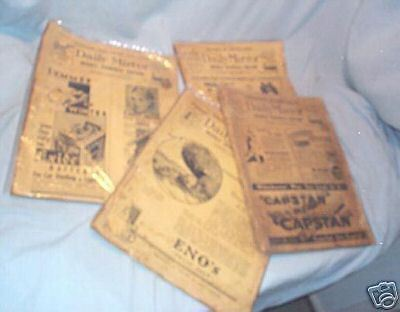 4 COPIES 1930s ENGLISH DAILY MIRROR NEWSPAPER MAGAZINE - GREAT ADVERTISEMENTS