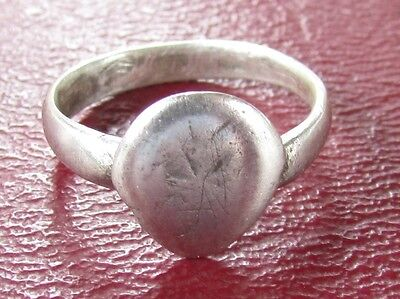 Authentic Ancient Artifact   SILVER FINGER RING Sz: 3 US 14mm  11147 DR