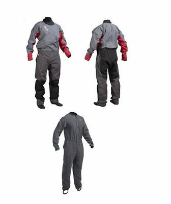 GUL DARTMOUTH FRONT ZIP DRYSUIT with socks + UNDER FLEECE CANOE KAYAK SAILING