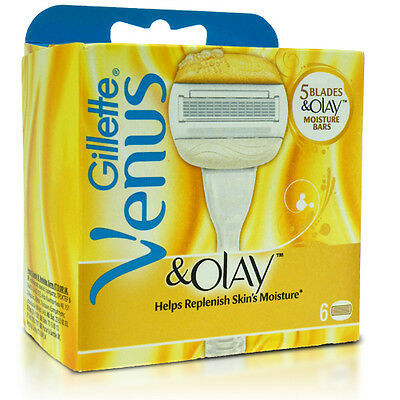 Gillette Venus & Olay Skin Moisture Bars Replacement Blades 6