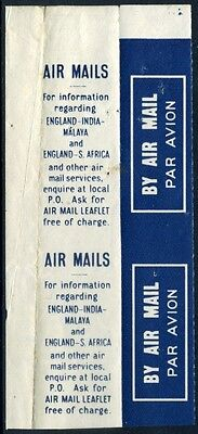 1934 KGV Harrison UNCUT Air Mail Booklet Panes VERY RARE!