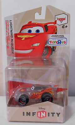 DISNEY INFINITY WORKS ON 2.0 CARS LIGHTNING MCQUEEN CLEAR VARIANT FIGURE RARE