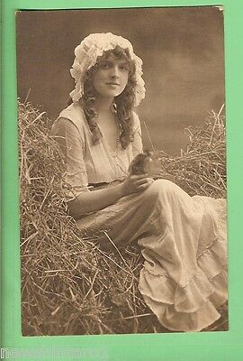 #c.   Postcard - English Country Girl, About 1918