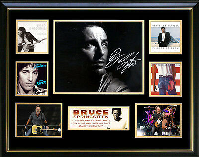 Bruce Springsteen Signed Framed Memorabilia