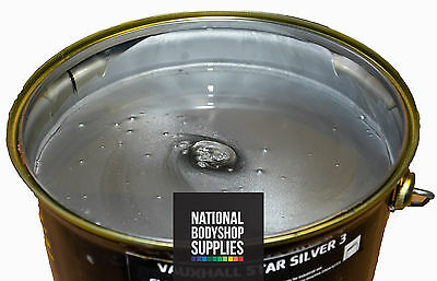 1L Vauxhall Star Silver 3 Basecoat Metallic Paint 157 Ready For Use Rfu