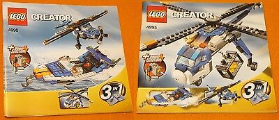 Lego Set 4995 INSTRUCTIONS ONLY Creator Cargo Copter Manual 2 Books Helicopter