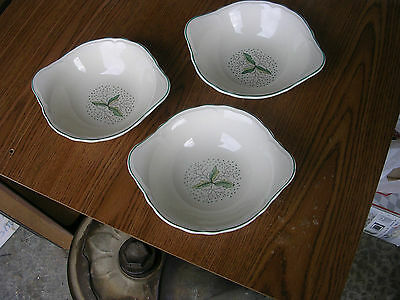 THREE EDWIN KNOWLES TABBED BOWLS