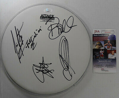Signed Creed Autographed Drumhead Full Band W/pics