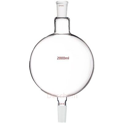 2000ml,24/40 Glass Chromatography Reservoir Flask,2L Chemical Received Bottle