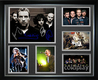 Coldplay Signed Framed Memorabilia