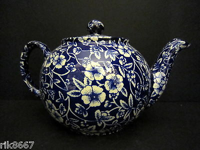 Heron Cross Pottery Victorian Calico English Chintz 2 Cup Tea Pot