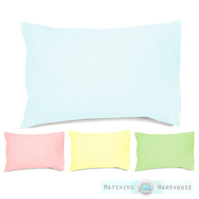 Pure Cotton Cotbed Size Hollowfibre Pillow & Pillowcase Junior Toddler Baby Cot