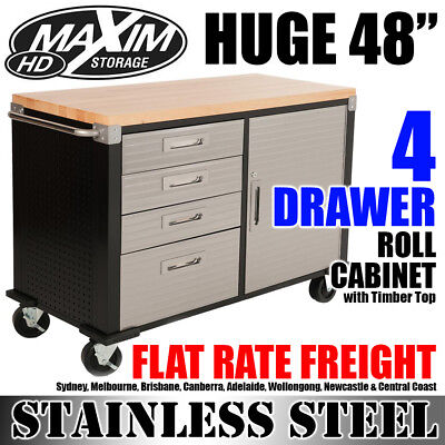 "MAXIM 48"" Roll Cabinet Toolbox Tool Workbench Chest Storage Chest Office Shed"