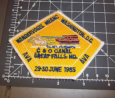 1985 C&O Canal Great Falls MD Wandervogel embroidered Patch, washington DC