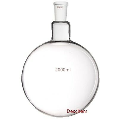 2000ml,24/40,Sigle Neck,Round Bottom Glass Flask,One-neck,2L Lab Boiling Bottle