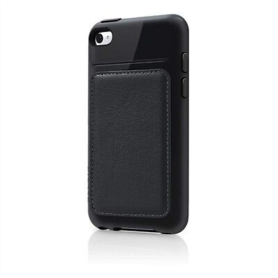 iPod Touch 4G 4th Gen Belkin Grip Edge Black Leather Plastic Hard Case Cover