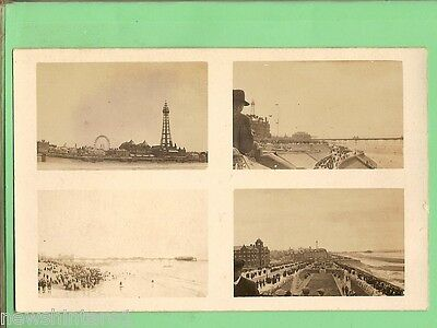 #c.  Postcard - Four Views Of Blackpool, About 1918