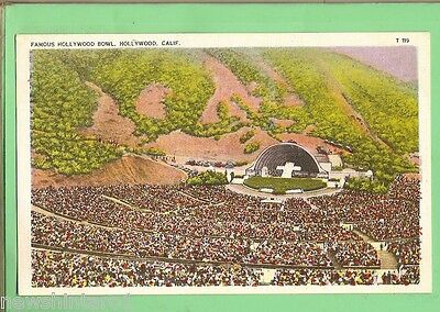 #C.  Postcard - Easter Services, Hollywood  Bowl