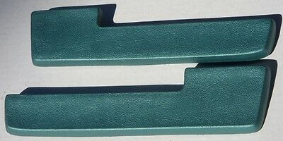 "Mopar 64-65 A B and C Body Front/Rear 10.5"" Armrest Pads NEW Turquoise"