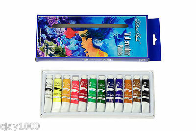 Artist Water Colour Paint Set Premium Quality 12 tubes x 12ml Arts & Crafts