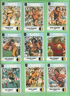 1977   Bailmain Tigers Scanlens Rugby League Cards
