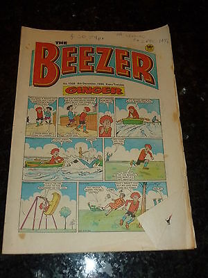 THE BEEZER Comic - Issue 1508 - Date 08/12/1984 - UK Paper Comic