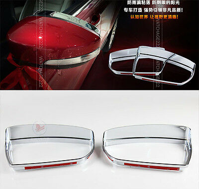 For Peugeot 3008 Chrome Rear View Mirror Side Visor Shield Molding Rain Cover