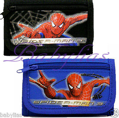 Spiderman / Black / Blue Tri-Fold Wallet / Official Licensed For Boys Spider Man