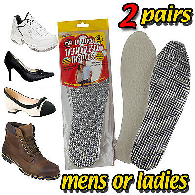 2 Pairs Mens Ladies Insulated Thermal Foil Winter Shoes Boots Trainers Insoles