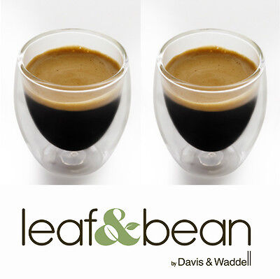 Davis & Waddell Espresso Coffee Double Dual Wall Thermo Glasses 80ml Set 2