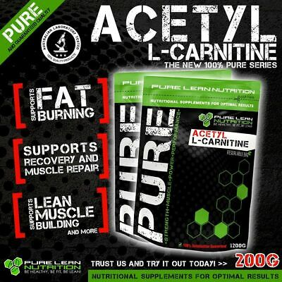 Acetyl L Carnitine Pure Powder 200G Alcar * Premium Grade * Laboratory Tested