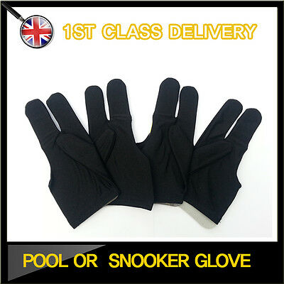 Snooker Pool Glove Cue Shotter 3 Fingers Gloves New