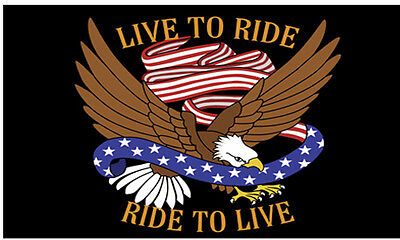 """Small Biker Flag  Live To Ride, Ride To Live  Motorcycle Flag Biker 6"""" X 9"""""""