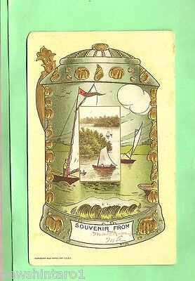 1908  Postcard - Sailing On Lake Matagamon, Maine, Usa
