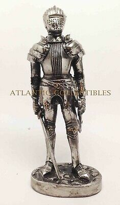 """Honorable Knight Standing Guard Elite Mini Small 4/""""H Sculpture Doll House Decor"""