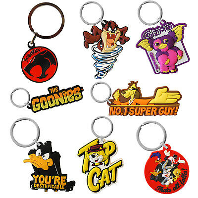 PVC Keyring -  Retro Novelty TV Film Keychain Goonies Boosh Flintstones Choice