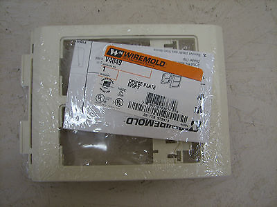 NIB  Wiremold Device Plate V4049 Ivory Wire Mold V 4049 PLUG DUPLEX OUTLET  NEW