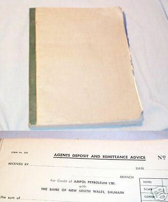 #t10. Ampol Petroleum Agent Bank Remittance Book, Bank Nsw, Balmain