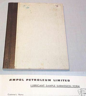 #t10.  Ampol Petroleum Lubricant Sample Submission  Book