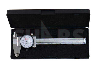 "4"" Convenient Dial Caliper W/ Case Calipers New Tool"
