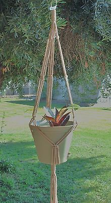 Macrame Plant Hanger 35in SIMPLE 3-ARM 6mm - SAND